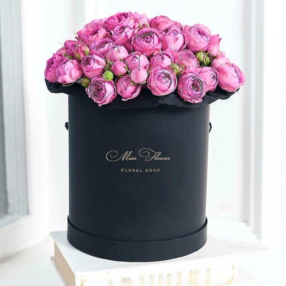 Букет с пионовидной розой Misty Bubbles