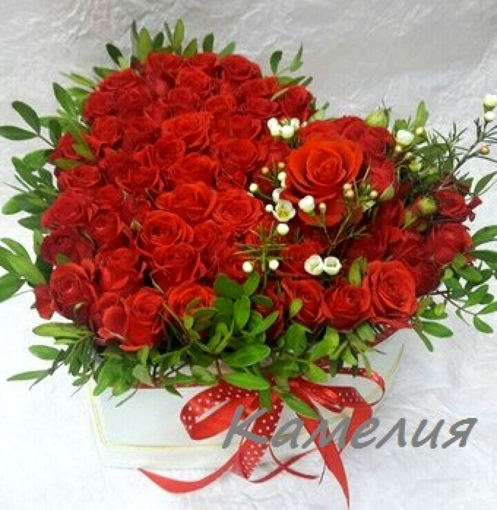 Цветы в коробке №9