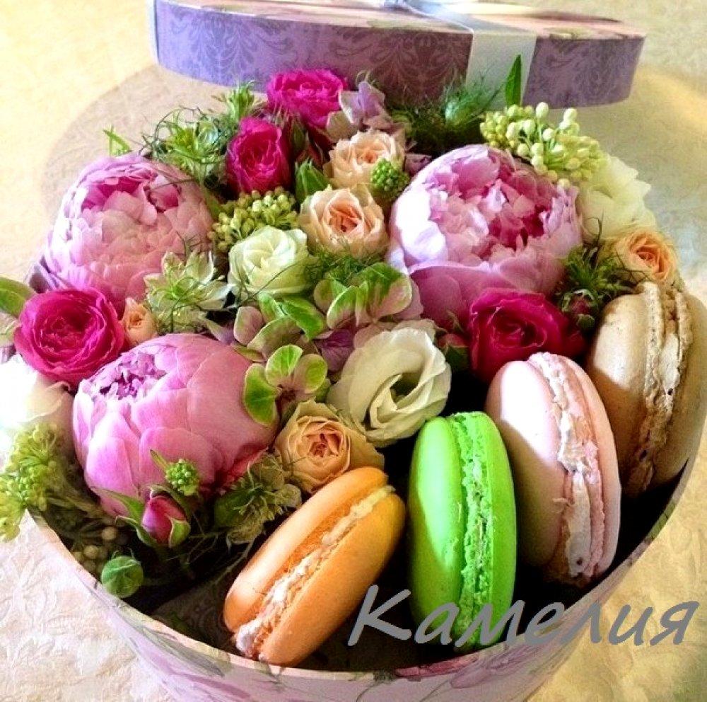 Цветы в коробке №18