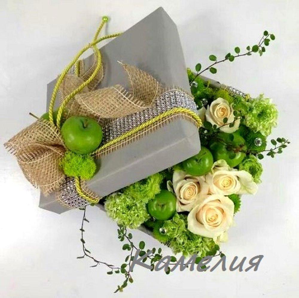 Цветы в коробке №52