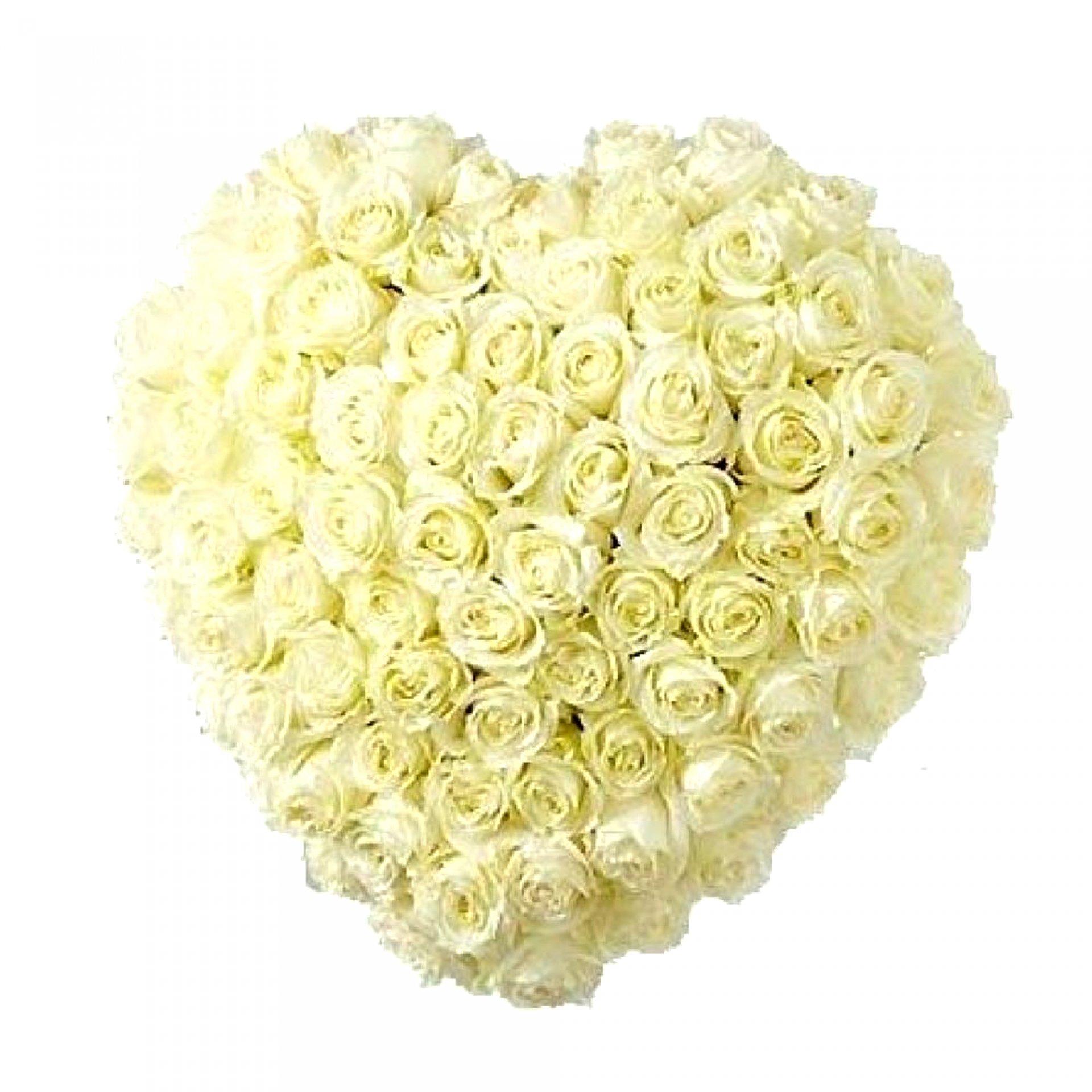 Сердце из роз (51 шт)