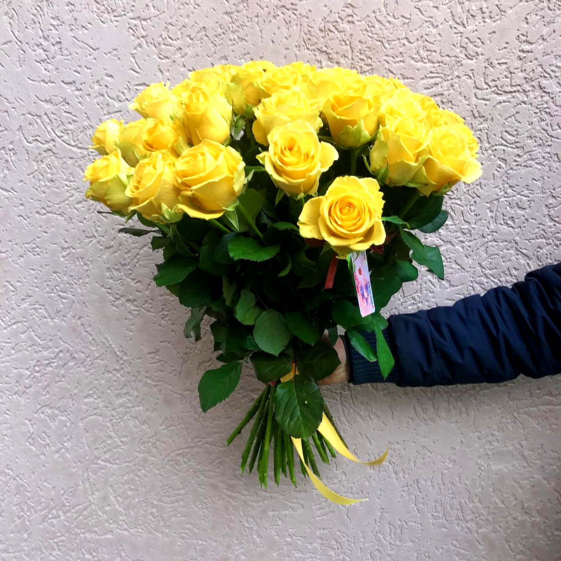 Букет желтых роз (35 шт)